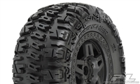 "Pro-Line Trencher 3.8"" All-Terrain Truck Tires on Tech 5 Black Rims (2)"