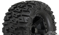 "Pro-Line Nitro Rustler 2.8"" Trencher Tires on Desperado Black Rims (2)"