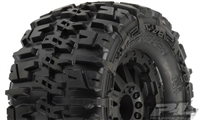 "Pro-line Trencher 2.8"" Truck Tires on F-11 TRX Bead Black Rims for Rear Rustler and Stampede (2)"