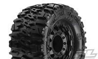 "Pro-Line Stampede 4x4 Trencher 2.8"" All-Terrain Tires mounted on Black F-11 17mm Rims (2)"