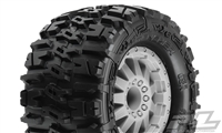 "Pro-Line Stampede/Rustler Trencher 2.8"" Traxxas Style Beard All-Terrain Tires mounted on F-11 Stone Gray Rims (2)"