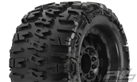 "Pro-Line Trencher X 3.8"" Traxxas Style Bead All Terrain Tires Mounted on F-11 Stone Gray 1/2"" Offset 17mm Rims (2)"