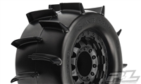 "Pro-Line Stampede 4x4 Sand Paw 2.8"" Sand Tires on F-11 TRX Bead Black 17mm Rims (2)"