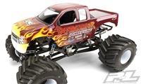 Pro-Line 2007 Chevy Silverado Clear Body for Solid Axle Monster Truck, requires painting