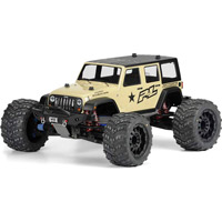 Pro-Line Maxx/Revo Jeep Wrangler Unlimited Rubicon Clear Body, requires painting