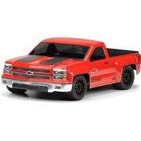 Pro-Line Chevy Silverado Pro-Touring Clear Short Course Body, requires painting