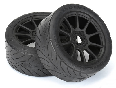Pro-Line Avenger HP S3 (Soft) Street Belted 1:8 Buggy Tires on Mach 10 Rims