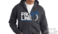 Pro-Line Stacked Charcoal Heather Zip-Up Hoodie, Large