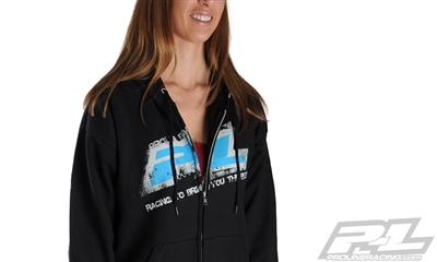 Pro-Line Hoodie Sweatshirt-Black, Large Zip-Up