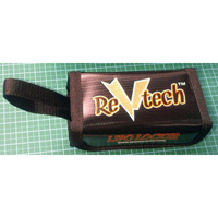 Revtech Lipo Locker For 1 Cell Packs, Black With Strap