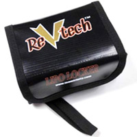 Revtech Lipo Locker For Brick 2s Lipo Battery Packs, Black
