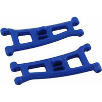 RPM SC10/T4/Gt2 Front A-Arms And Bulkhead, Blue