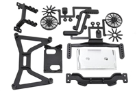 "RPM Slash 2wd ""No Clip"" Body Mount Set"