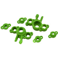RPM 1/16th E-Revo and 1/16th Slash Axle Carriers, green (2)