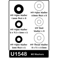Schumacher 3mm Washers, Assorted (24)
