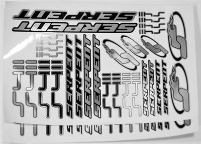 Serpent S411 Decal Sheets, Chrome (2)