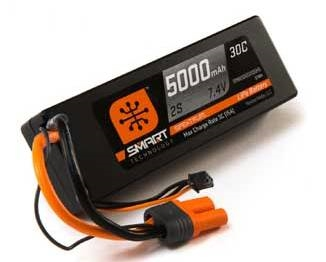 Spektrum 7.4V 5000mAh 2S 30C Hardcase Smart LiPo Battery, IC5