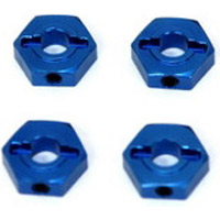 ST Racing Ten SCTE 2.0 Hex Adapters, Blue Aluminum With Pins (4)