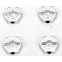 ST Racing Ten SCTE 2.0 Hex Adapters, Silver Aluminum With Pins (4)