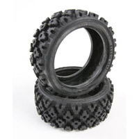 Tamiya Rally Block Tires for 26mm Rims (2)
