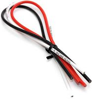 "Tekin 14 Gauge Wire-Red/Black/White- 12"" Of Each Color"""