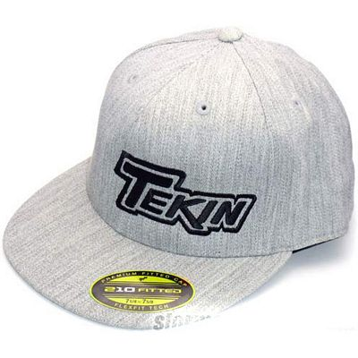 Tekin Force 210 Grey Flexfit Hat, Small/Medium