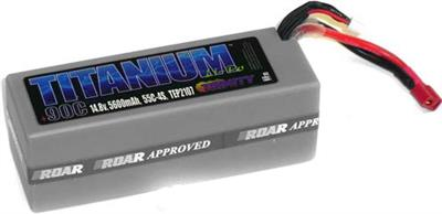 Team Epic 5600mAh 90c 14.8v 4s Titanium Lipo Battery Pack-Deans Plug