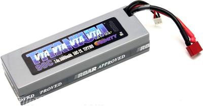 Team Epic 5000mAh 7.4v 50c 2s VTA Spec Lipo Battery Pack-Deans Plug