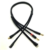 Team Epic 4S Pro Charge Cable w/ WSDeans Connector, black