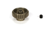 "Losi 28 tooth Aluminum Pinion Gear, 48 pitch for 1/8"" Motor Shaft"