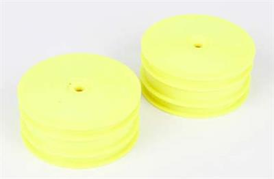 Losi 22-4 Front Rims, Yellow (2)