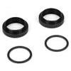 Losi 22 Shock Preload Adjusting Nuts with O-Rings (2 each)