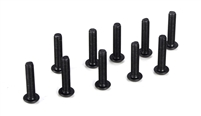 Losi Button Head Screws, M3 x 14mm (10)