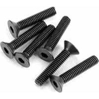 Traxxas 3 x 15mm Countersunk Machine Hex Drive Screws (6)