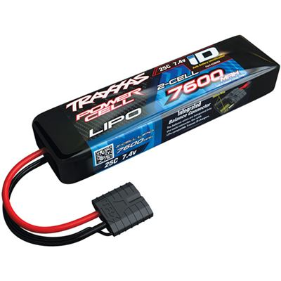 Traxxas 7600mAh Power Cell 7.4v 2s Lipo Battery Pack, 25c with ID connector