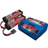 Traxxas Dual iD Charger with 5000mAh 11.1v 3S Lipo Batteries (2)