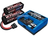 Traxxas EZ-Peak Live iD Charger with 6700mAh 14.8v 4S Lipo Batteries (2)