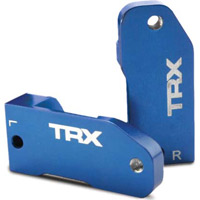 Traxxas Rustler/Slash 30 Degree Caster Blocks, blue aluminum (2)