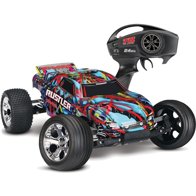Traxxas Rustler XL5 RTR Truck with Courtney Force body and TQ radio