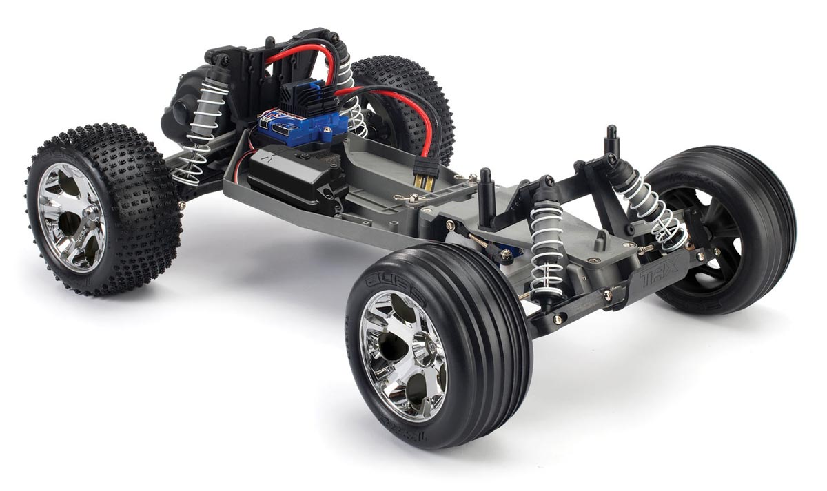 Traxxas Rustler XL5 RTR Truck with red body and TQ radio