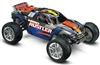 Traxxas Nitro Rustler RTR truck with 2.5 engine, Blue/Silver