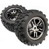 "Traxxas Maxx 3.8"" Chevron Tires On Black Split Spoke Rims (2)"
