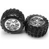 "Traxxas Maxx/Summit 3.8"" Talon Tires On Chrome Split Spoke Rims (2)"