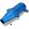 Traxxas Revo/Slayer Tuned Pipe, Blue Aluminum