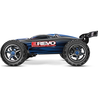 Traxxas E-Revo 4wd Brushless RTR Truck with TSM and Blue Body