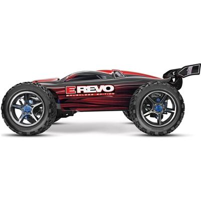 Traxxas E-Revo 4wd Brushless RTR Truck with TSM and Red Body