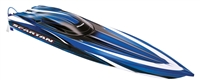 Traxxas Spartan Boat Brushless Electric RTR with TSM, blue