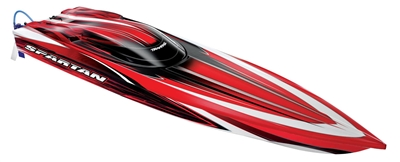 Traxxas Spartan Boat Brushless Electric RTR with TSM, red