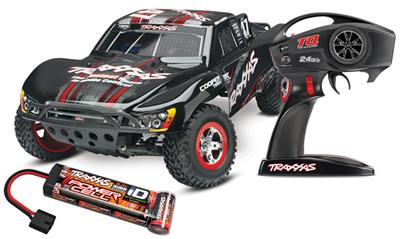 Traxxas Slash 2wd RTR SC Truck with On-Board Audio And Black Body
