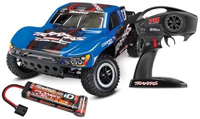 Traxxas Slash 2wd RTR SC Truck With On-Board Audio And Blue Body